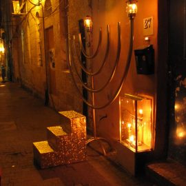Ner Chanukah – Lighting up the Legs and the Market
